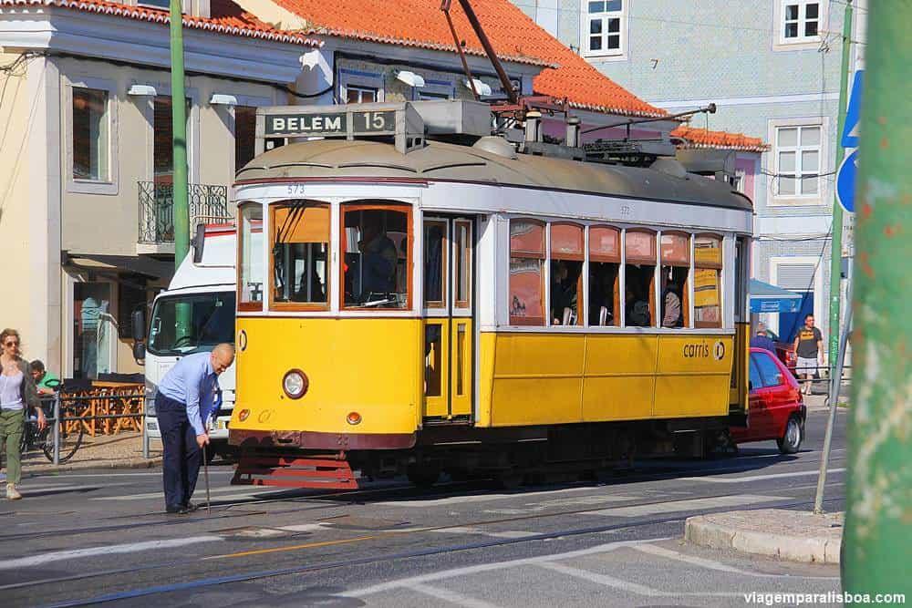 bonde 15 para Belém em Lisboa