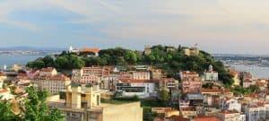 castelo de São Jorge em Alfama Lisboa