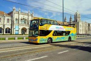 ônibus para turistas em Lisboa