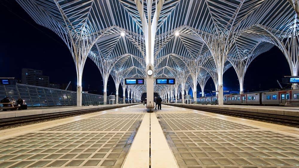 Trem em Lisboa
