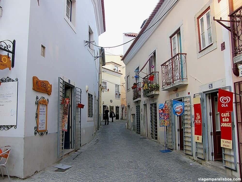 Região do Castelo em Lisboa