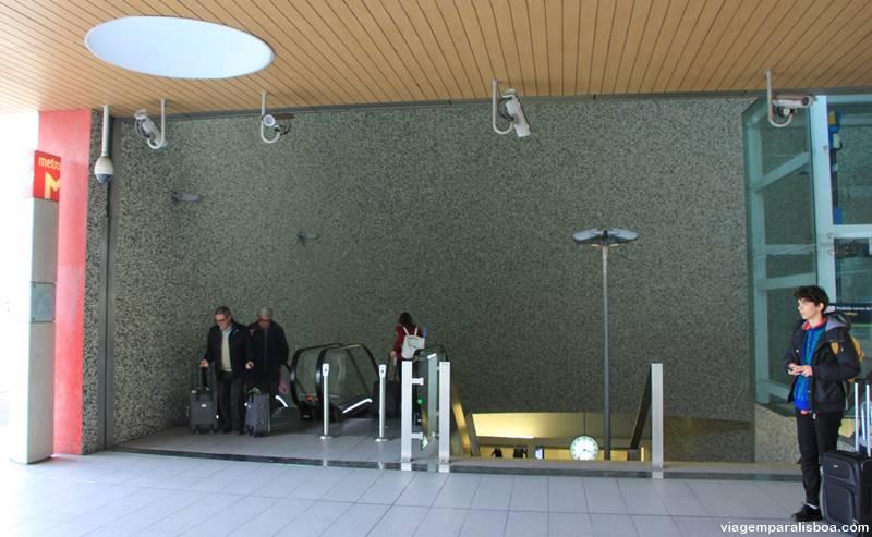 metrô de Lisboa aeroporto