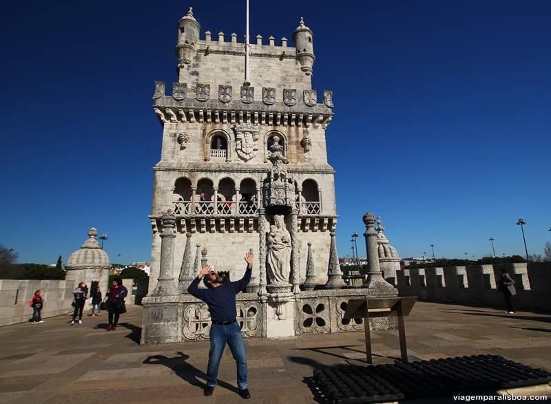 No alto da Torre de Belém