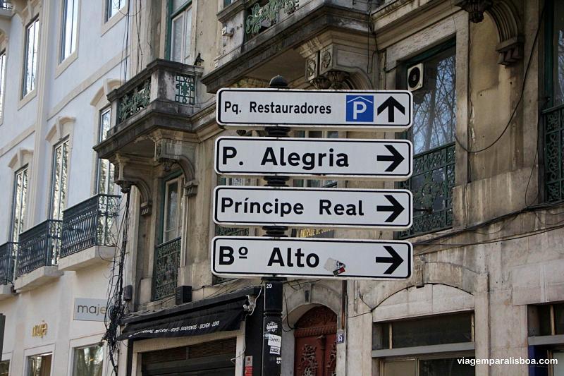 Como chegar ao Príncipe Real em Lisboa