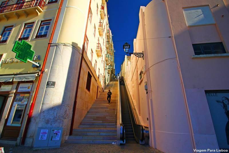 escada rolante do castelo de São Jorge