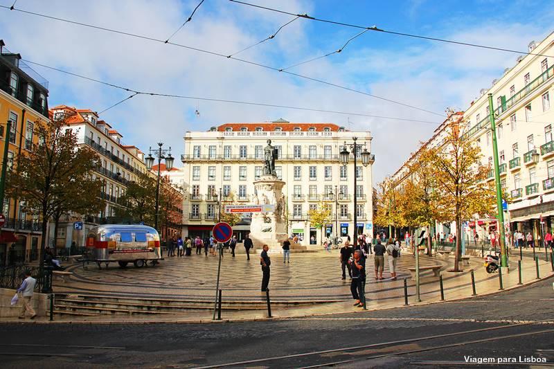 Praça Luis de Camões Choado Lisboa