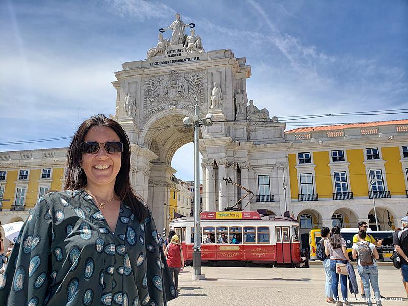 Arco da rua Augusta em Lisboa