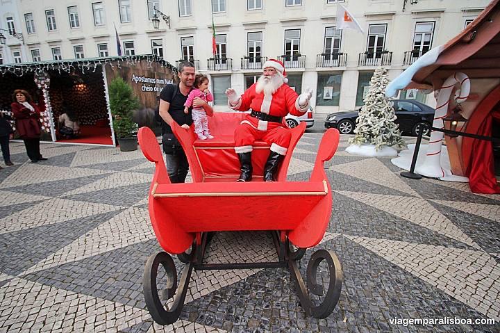 Papai Noel em Lisboa
